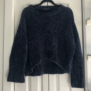 Zara chenille knit sweater